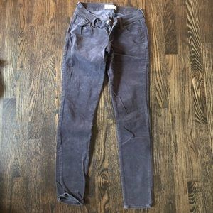 Grey corduroy rockstar pants- old navy